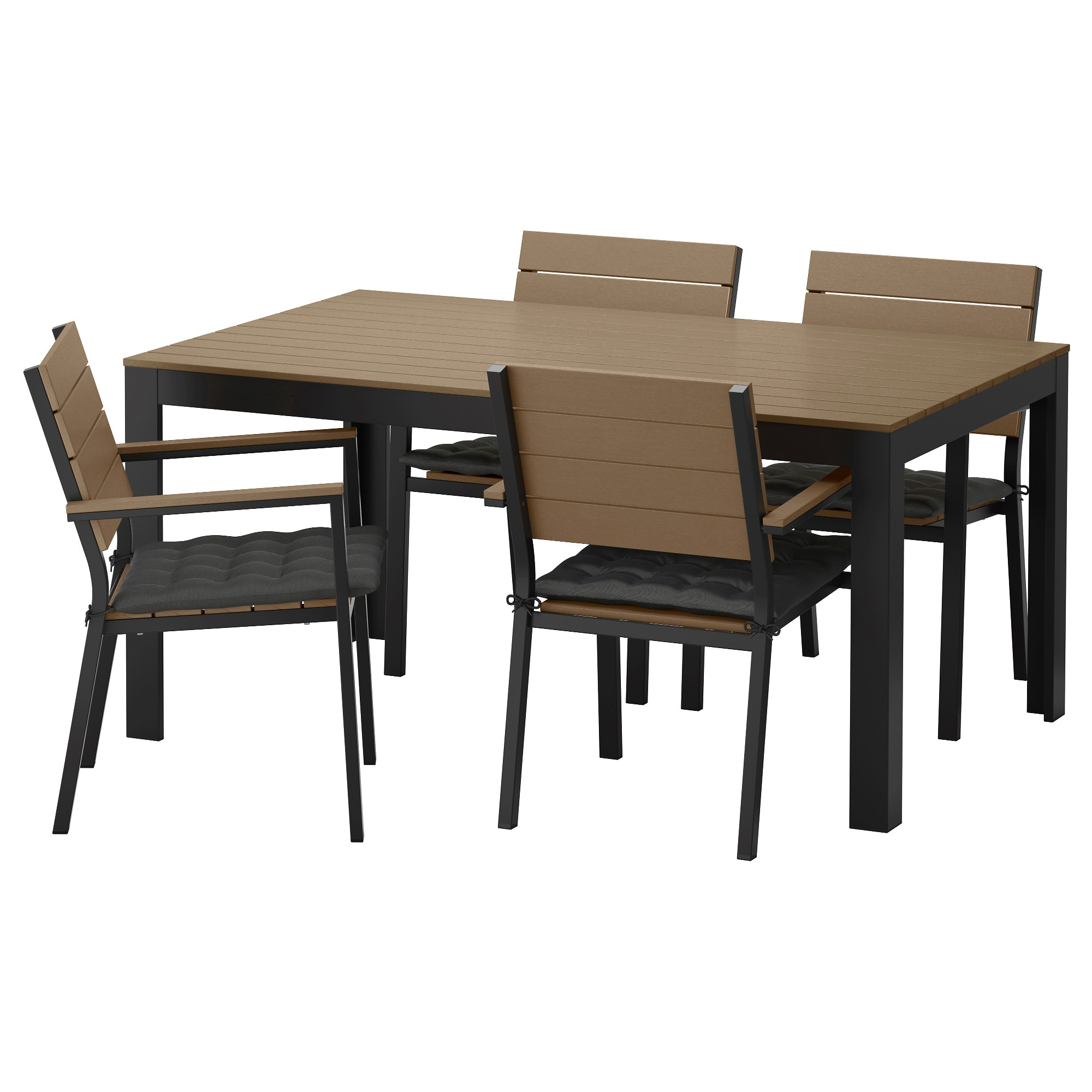 Exceptionnel IKEA FALSTER Table+4 Chairs W Armrests, Outdoor