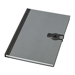 FULLFÖLJA note-book, grey Length: 21 cm Width: 14.5 cm Surface density: 80 g/m²