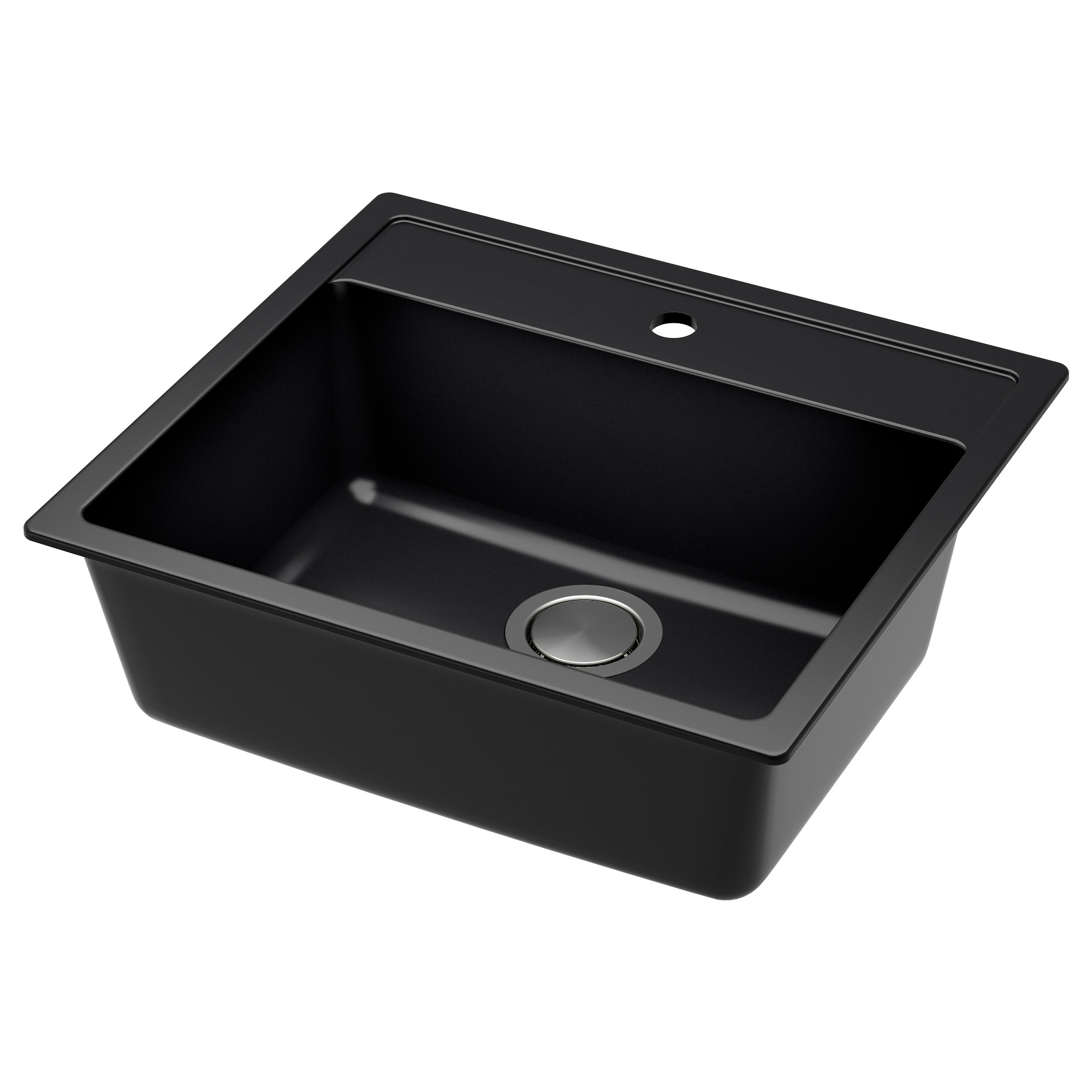 H Llviken Sink Black Quartz Composite Length 22 Depth 19 5