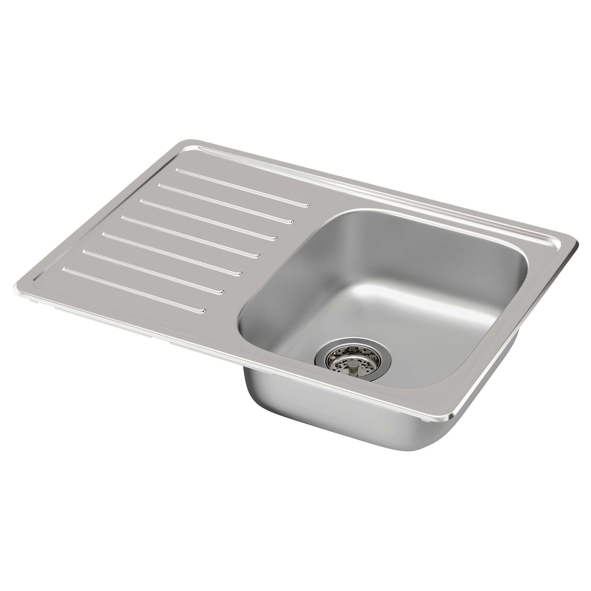 Fyndig Single Bowl Top Mount Sink Stainless Steel Length 27 1 2