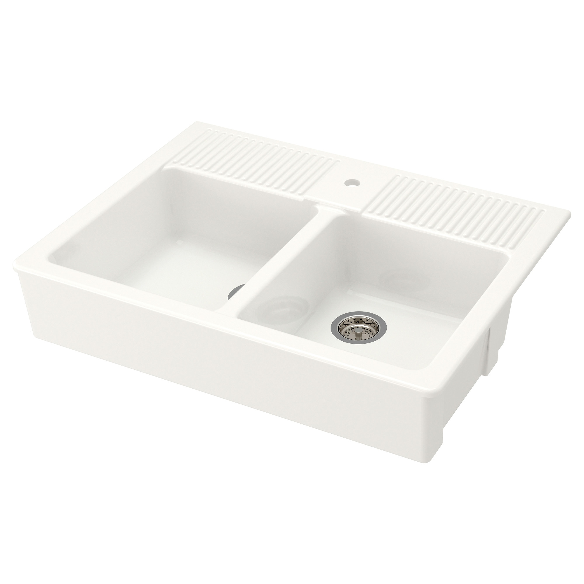 Bathroom Sinks Double Basin domsjÖ double bowl apron front sink - ikea