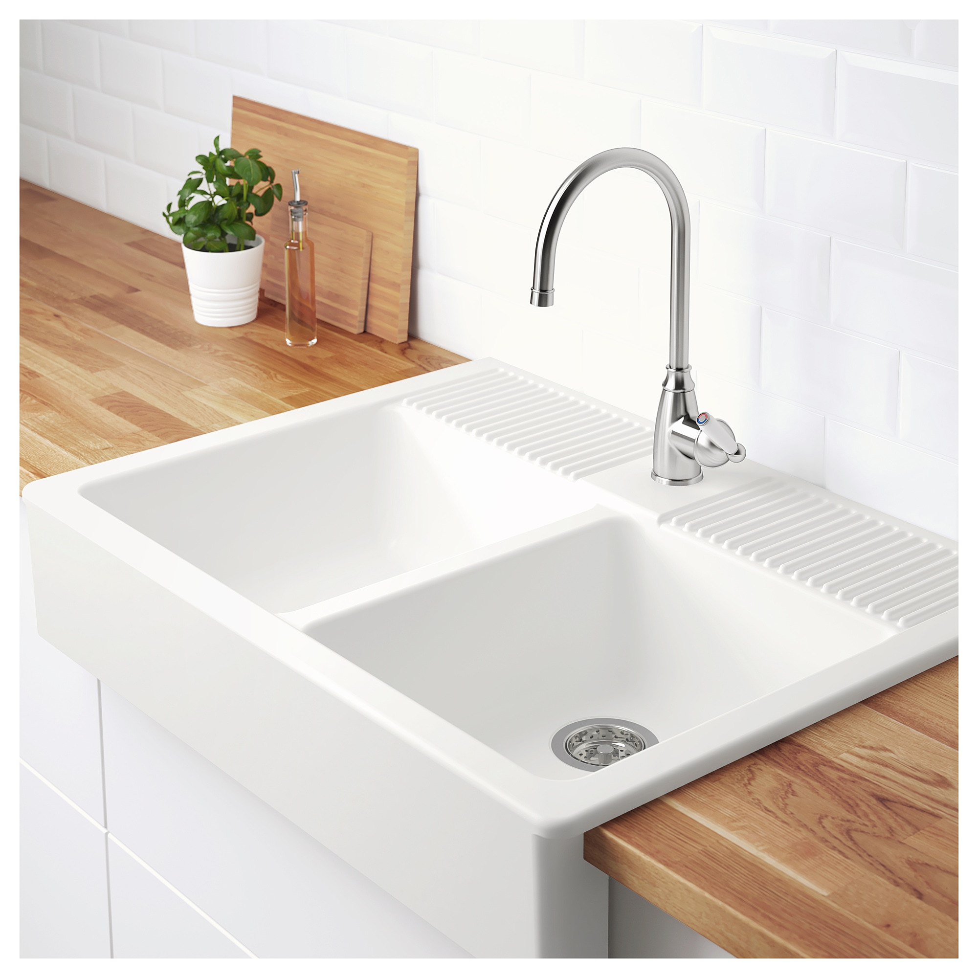 Interior Ikea Apron Front Sink onset sink 2 bowls ikea