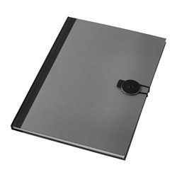 FULLFÖLJA note-book, grey Length: 30 cm Width: 21 cm Surface density: 80 g/m²