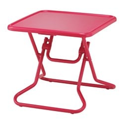 "IKEA PS 2017 coffee table, folding foldable, red Length: 21 5/8 "" Width: 21 5/8 "" Height: 19 5/8 "" Length: 55 cm Width: 55 cm Height: 50 cm"