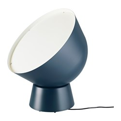 "IKEA PS 2017 floor lamp with LED bulb, dark blue Height: 22 "" Base diameter: 10 "" Shade diameter: 18 "" Height: 55 cm Base diameter: 26 cm Shade diameter: 45 cm"