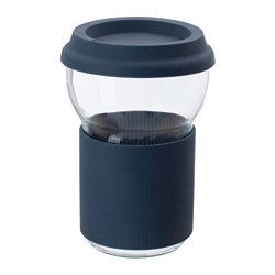 IKEA PS 2017 cup with lid, dark blue