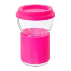 IKEA PS 2017 cup with lid, pink