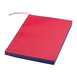 IKEA PS 2017 note-book, red Length: 21 cm Width: 14 cm Surface density: 80 g/m²
