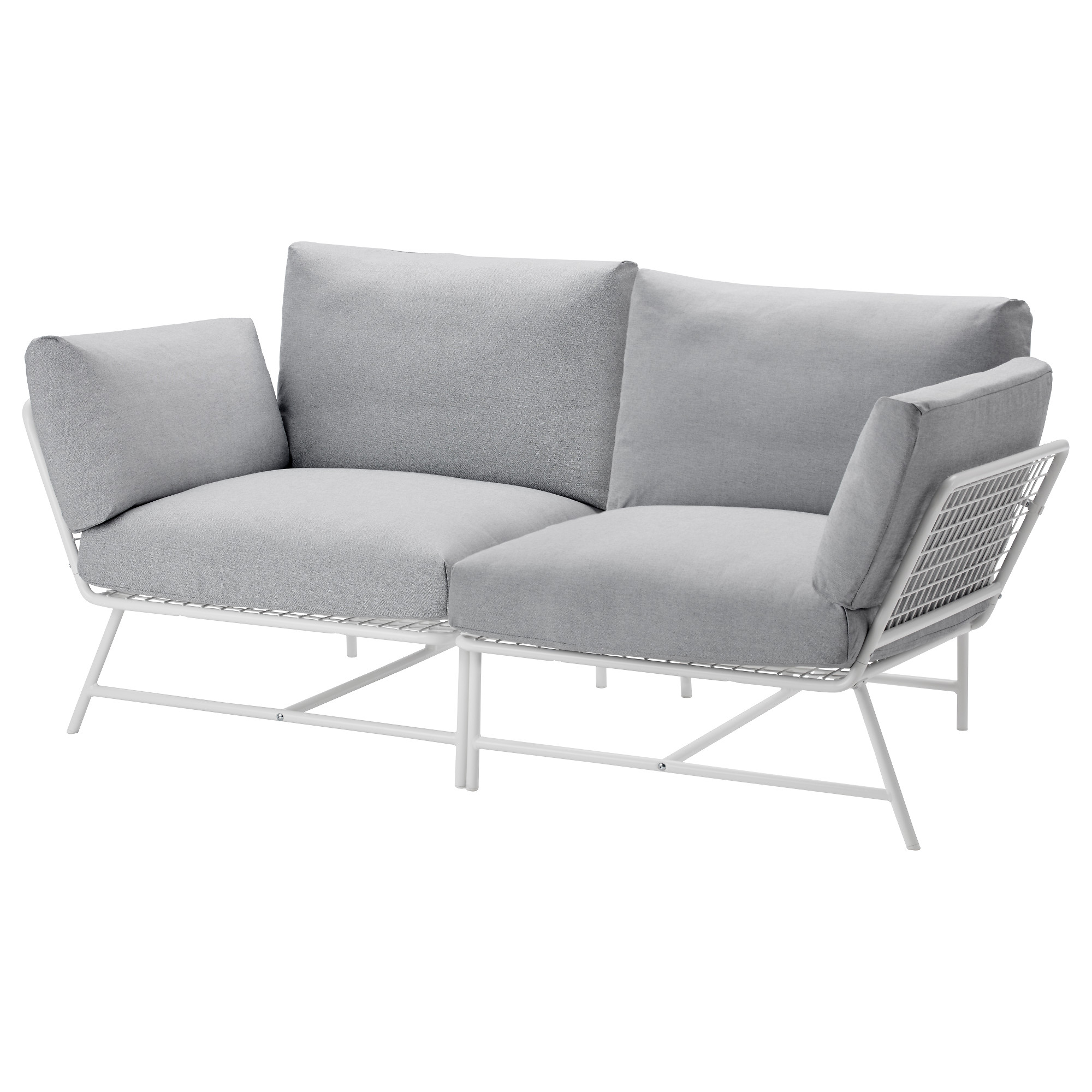 fabric loveseats  ikea - ikea ps  loveseat white gray height including back cushions