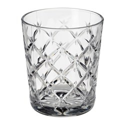 FLIMRA glass, clear glass, patterned Height: 9.9 cm Volume: 28 cl