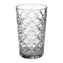 FLIMRA glass, clear glass, patterned Height: 14 cm Volume: 42 cl
