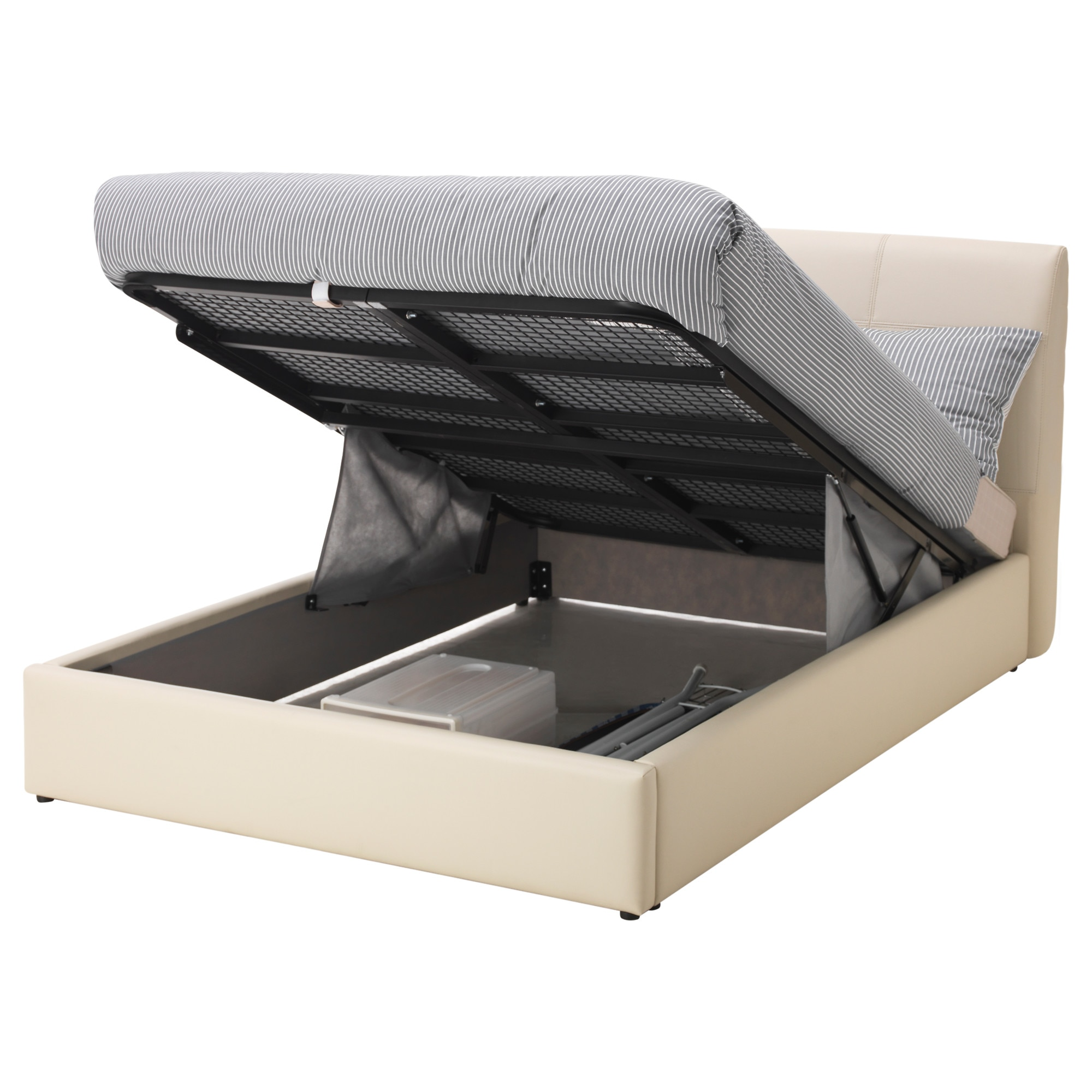Ottoman bed ikea - S Fteland Ottoman Bed Kimstad Off White Length 220 Cm Width 183 5 Cm