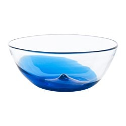 STOCKHOLM 2017 serving bowl, blue, clear glass Height: 12 cm Diameter: 29 cm