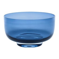 STOCKHOLM 2017 bowl, blue, clear glass Height: 15 cm Diameter: 26 cm