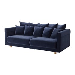 STOCKHOLM 2017 three-seat sofa, Sandbacka dark blue Width: 228 cm Depth: 112 cm Height: 72 cm