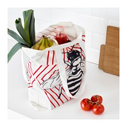 "ANVÄNDBAR bag, red/white Length: 17 ¾ "" Height: 18 "" Package quantity: 1 pack Length: 45 cm Height: 46 cm Package quantity: 1 pack"
