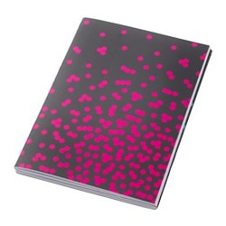 UPPFATTA double-sided notebook, dotted, grey Length: 21 cm Width: 14.5 cm Surface density: 80 g/m²