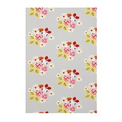 FÖRVANDLA fabric, grey, floral patterned Weight.: 235 g/m² Width: 150 cm Area: 1.50 m²