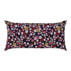 FÖRVANDLA cushion, floral patterned, dark blue Length: 30 cm Width: 60 cm Filling weight: 280 g
