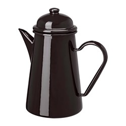 KAKKULTUR coffee pot, dark grey Height: 22 cm Volume: 1.0 l