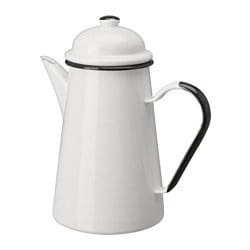KAKKULTUR coffee pot, off-white Height: 22 cm Volume: 1.0 l
