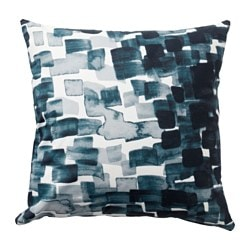 STOCKHOLM 2017 cushion, check pattern, blue Length: 45 cm Width: 45 cm Filling weight: 650 g