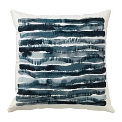 STOCKHOLM 2017 cushion, striped, blue Length: 45 cm Width: 45 cm Filling weight: 650 g