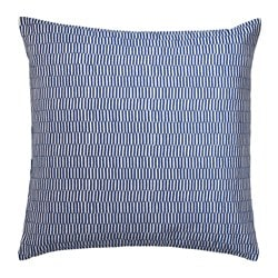 STOCKHOLM 2017 cushion, striped blue, white Length: 50 cm Width: 50 cm Filling weight: 750 g