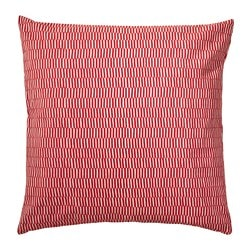 "STOCKHOLM 2017 cushion, striped red orange, white Length: 20 "" Width: 20 "" Filling weight: 26 oz Length: 50 cm Width: 50 cm Filling weight: 750 g"