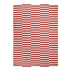 STOCKHOLM 2017 rug, flatwoven, handmade striped, striped white red orange Length: 350 cm Width: 250 cm Area: 8.75 m²