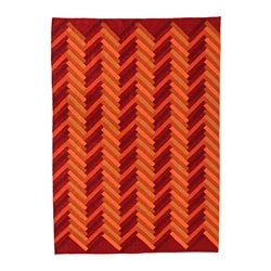 STOCKHOLM 2017 tapis tissé à plat, fait main motif en zigzag, orange motif en zigzag orange