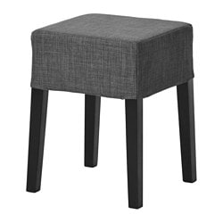 NILS stool, black, Skiftebo dark grey Tested for: 110 kg Seat width: 34 cm Seat depth: 34 cm