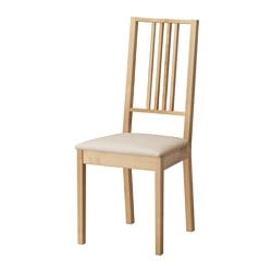 BÖRJE chair, Kungsvik sand, birch Tested for: 110 kg Width: 44 cm Depth: 55 cm