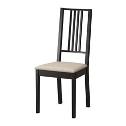 BÖRJE chair, Kungsvik sand, brown-black Tested for: 110 kg Width: 44 cm Depth: 55 cm