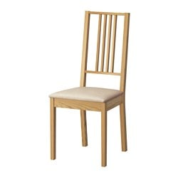 BÖRJE chair, Kungsvik sand, oak Tested for: 110 kg Width: 44 cm Depth: 55 cm