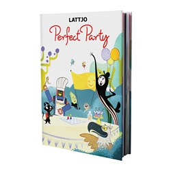 "LATTJO book, Perfect Party Width: 8 ¾ "" Height: 12 ¼ "" Width: 22.2 cm Height: 31 cm"