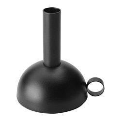 "SÄLLSKAP candle holder, black Diameter: 4 "" Height: 5 "" Diameter: 10 cm Height: 13 cm"