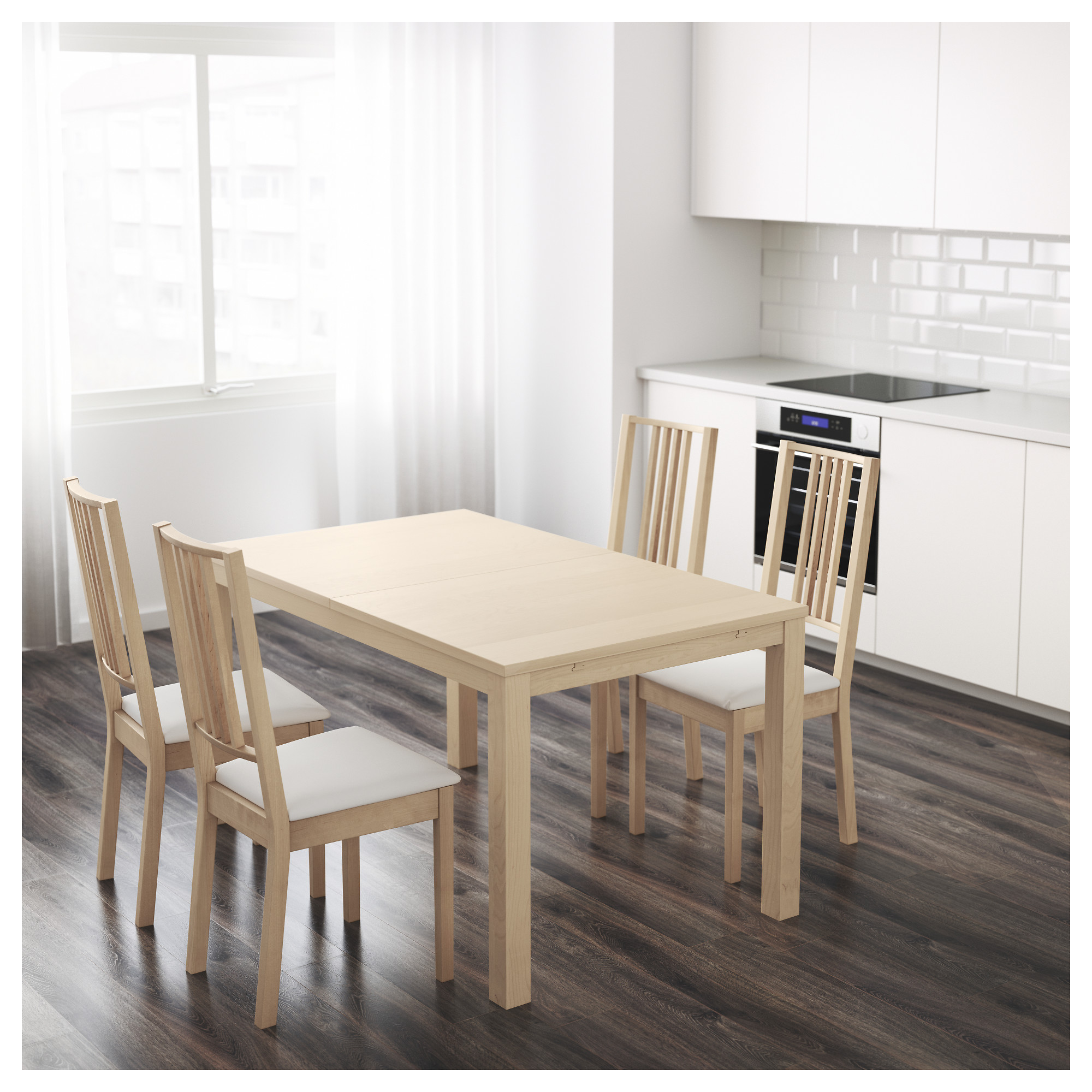 Dining Room Table Extendable bjursta extendable table - birch veneer - ikea
