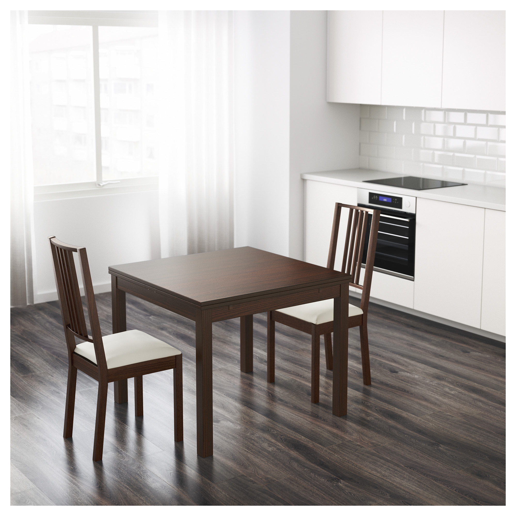 Dining Room Tables With Leaves bjursta extendable table - brown - ikea