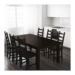 STORNAS Extendable Table Brown Black 42900