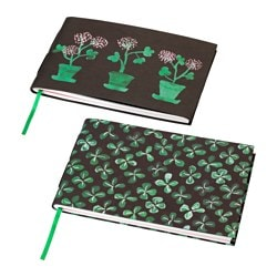 SÄLLSKAP note-book, assorted patterns Length: 18 cm Width: 26 cm Thickness: 2 cm