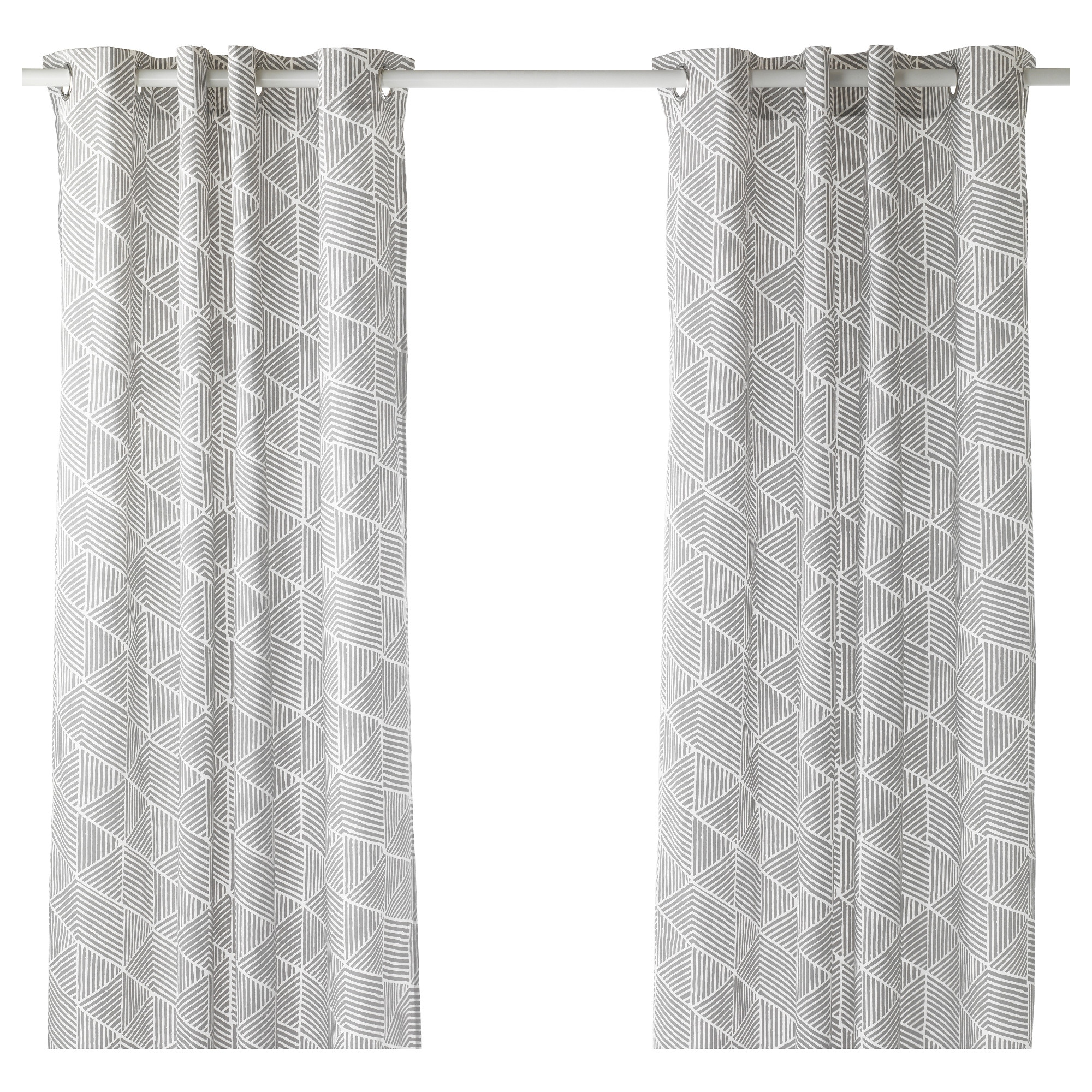 Black and white curtains bedroom - Nunner Rt Curtains 1 Pair Gray White Length 98 Width 57