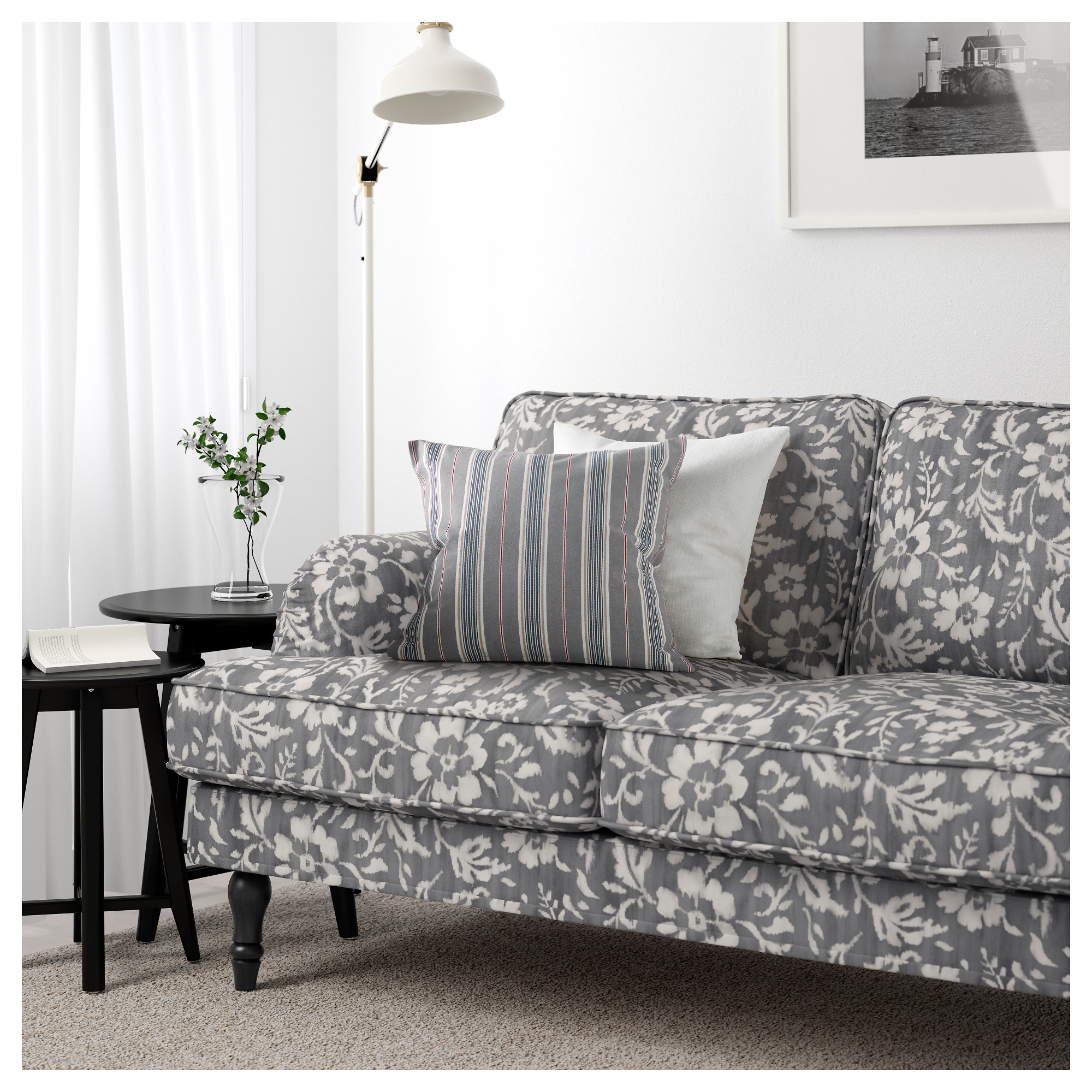 Stocksund sofa nolhaga dark gray black ikea parisarafo Choice Image