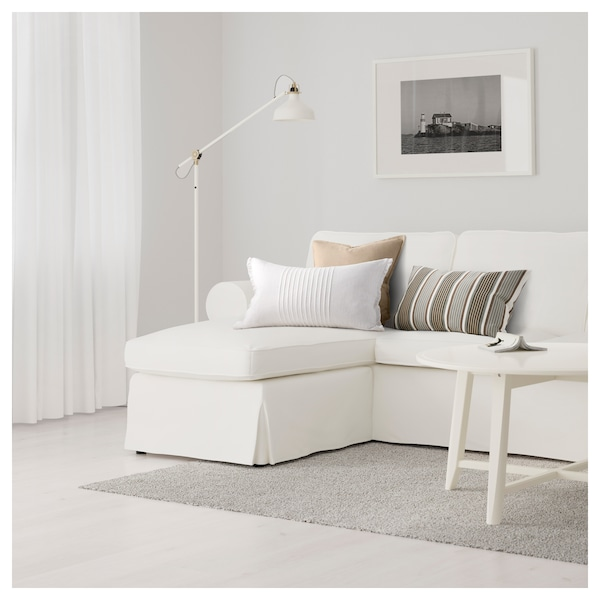 Ektorp 3 Seat Sofa With Chaise Longue Vittaryd White Ikea