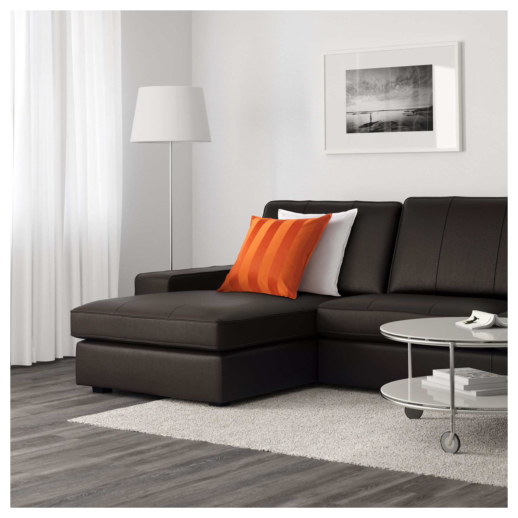 KIVIK Sectional, 4 Seat   With Chaise/Grann/Bomstad Dark Brown   IKEA