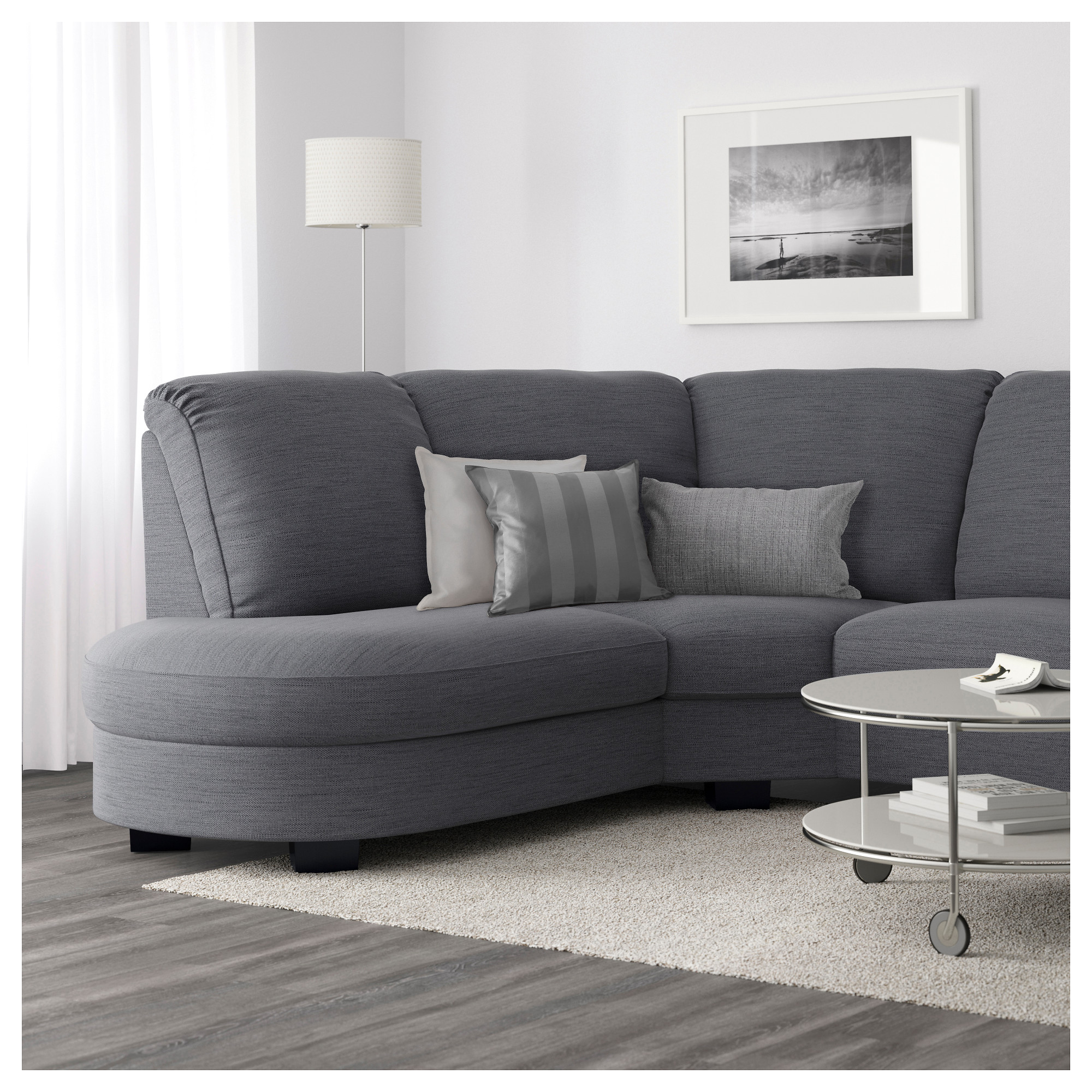 Delicieux TIDAFORS Corner Sofa With Arm Right   Hensta Gray   IKEA