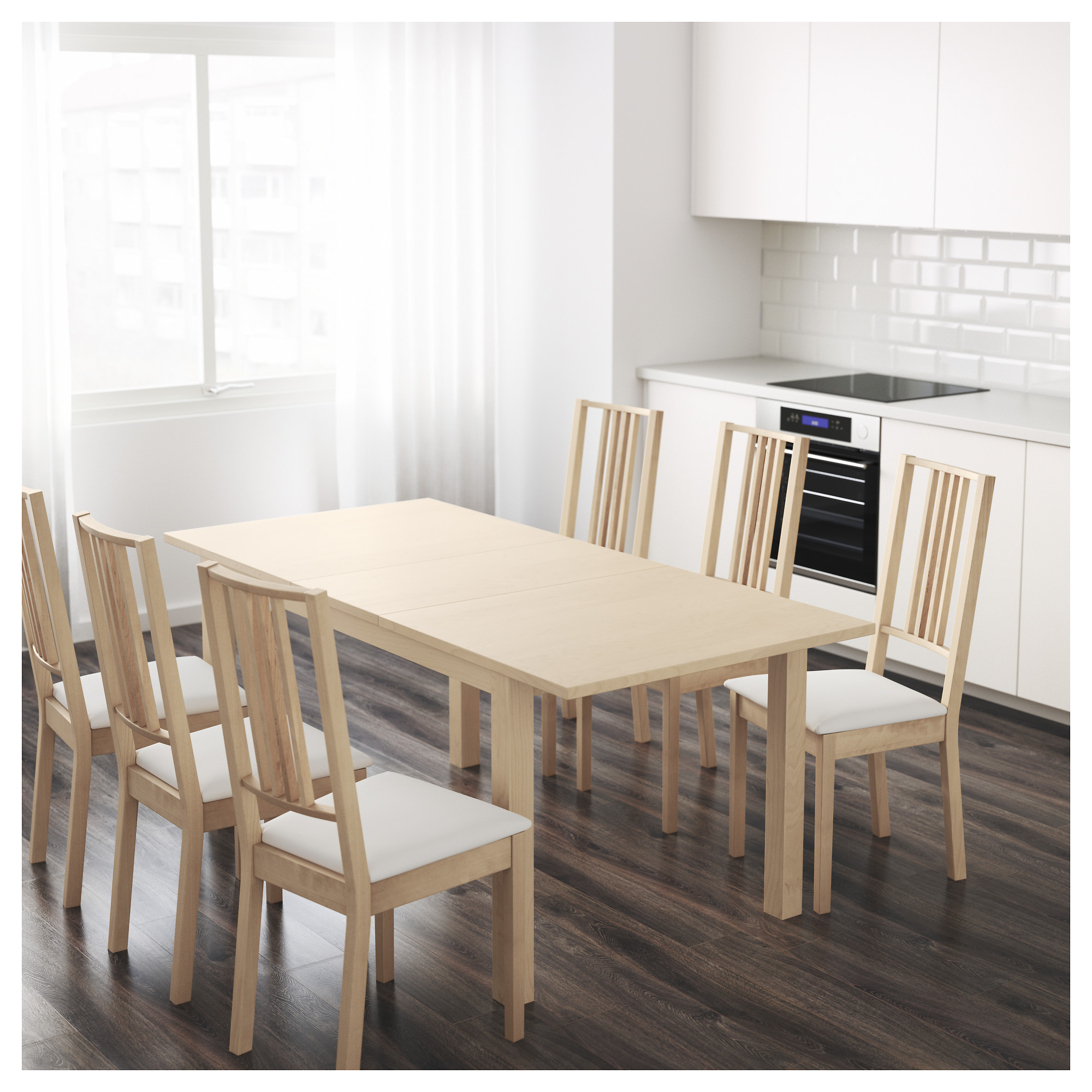 Extending Dining Room Table Endearing Bjursta Extendable Table  Brown  Ikea Design Inspiration