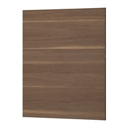 "VOXTORP cover panel, walnut effect Width: 24 5/8 "" Height: 30 "" Thickness: 1/2 "" Width: 62.5 cm Height: 76.2 cm Thickness: 1.4 cm"