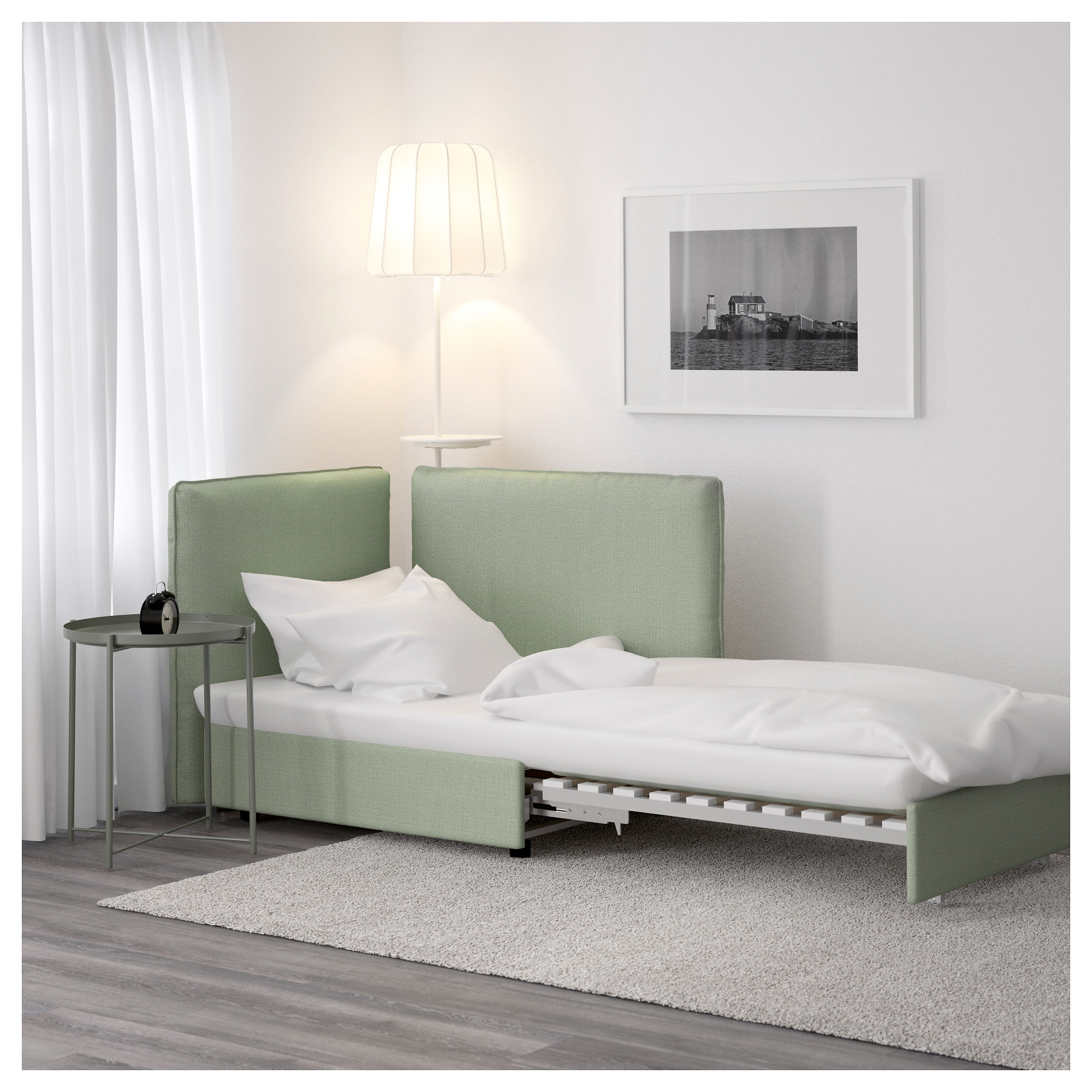 VALLENTUNA Seat module with bed and backrest Hillared green IKEA