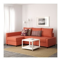 Friheten Corner Sofa Bed With Storage Skiftebo Dark Orange Sr 2595 Ikea Family